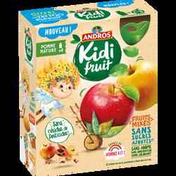 Gourdes kidifruit pomme ANDROS, 4x85g