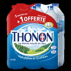 Eau minérale naturelle Thonon 6x1,5l dt 1 ble offerte