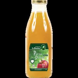 Jus de pomme multivariétal LE VERGER DE LA BLOTTIERES, bouteille en verre de 1l
