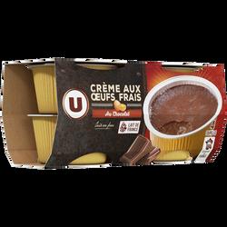 Crème aux oeufs au chocolat U 4x100g