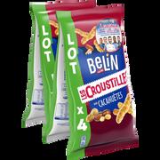 Belin Croustilles Aux Cacahuètes Belin, 4 Paquets De 138g