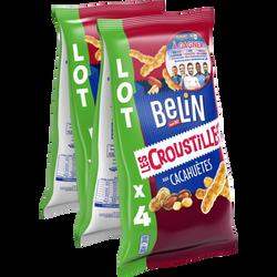 Croustilles aux cacahuètes BELIN, 4x138g