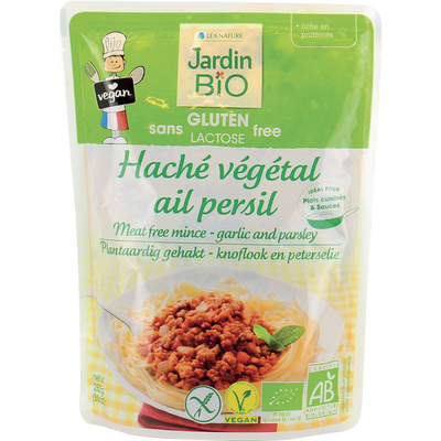 Haché végétal ail persil sans gluten JARDIN BIO, 250 g
