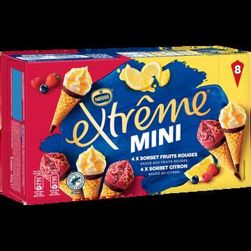 Nestlé Sorbets Citron Fruits Rouges Extreme, X8 Soit 312g
