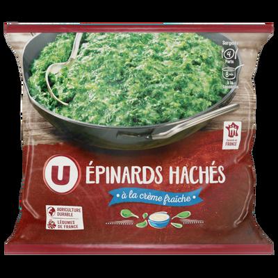 Epinards hâchés à la crème fraîche U, 1kg