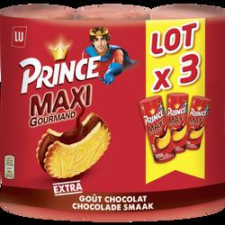 Prince maxi choco LU, 3 paquets de 250g