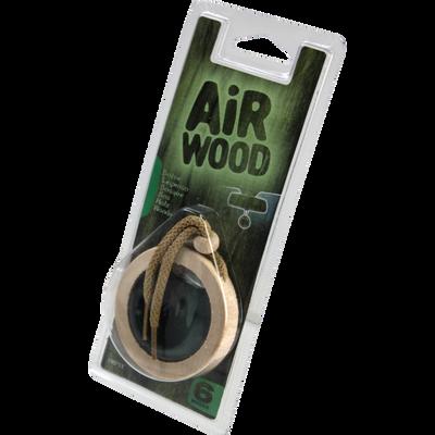Médaillon parfumé forêt, CARLINEA, en bois, parfum dans une capsule,il suffit de tiere la languette pour que le parfum se diffuse