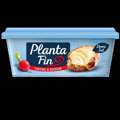 Margarine demi sel, tartine et cuisson, PLANTA FIN, 59% de MG, 250g