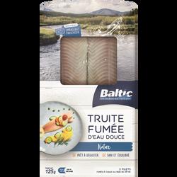 Filets de truite fumée nature BALTIC 125g