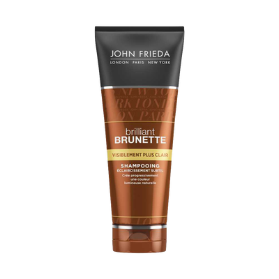 Shampooing brillant brunette visiblement plus clair JOHN FRIEDA, tube250ml