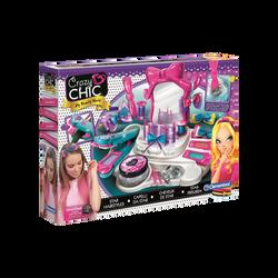 Cheveux de star CLEMENTONI-salon de beauté avec 1 grand miroir+1 palette de coloration+1 gel pailleté+pinces+1plateau pour les accessoires-dès 6ans