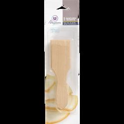 Spatule à raclette U, en bois, pack de 6