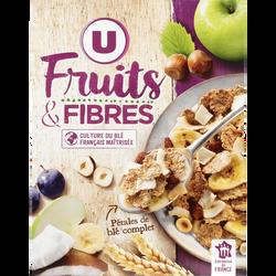 Céréales fruits et fibres U, boîte de 500g