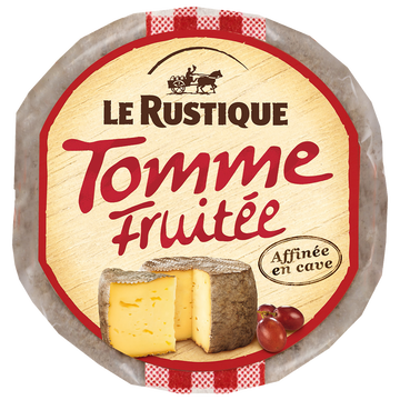 Le Rustique Tomme Fruitée Au Lait Pasteurisé Le Rustique, 28%mg, 280g