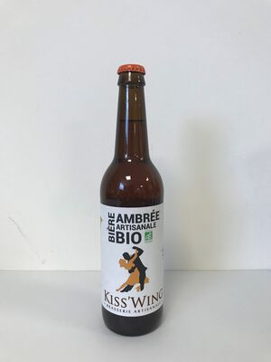 Kiss'Wing Bière Ambrée Artisanale Bio 50cl