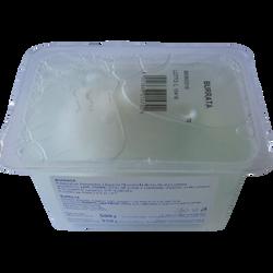 Fromage au lait pasteurisé Burata recouvert feuille, 19,6% de MG, 250g