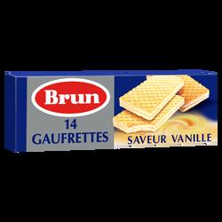 Gaufrettes saveur vanille BRUN,  paquet de 146g