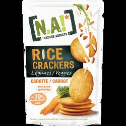 Crackers fins de riz et carotte NATURE ADDICTS, soit 70g