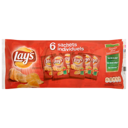 Chips finement salées LAY'S, 6x25g