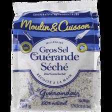 Gros sel de Guérande spécial moulin LE GUERANDAIS, sachet de 500g