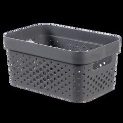 Bac infinity dots recyclé CURVER, 4,5l, gris