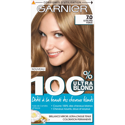 Coloration permanente, 100% COLOR, ultra blond blond foncé n°7.0