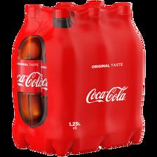 Coca Cola , 6 Bouteilles De 1,25l