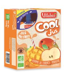 Jus de pomme mangue Bio Vitabio 4 gourdes de 105ml