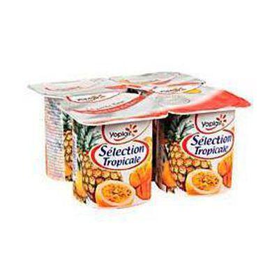 Yaourts aux fruits, Sélection Tropicale, YOPLAIT, 4x125g