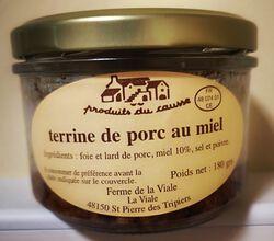 terrine de porc au miel Produits du causse 180g