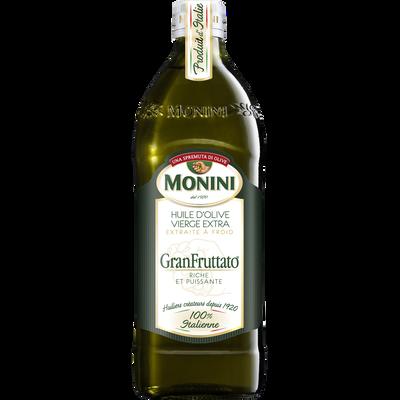 Huile d'olive vierge extra granfruttato MONINI, bouteille de 75cl