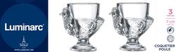Coquetier LUMINARC Poule, en verre, 3 unités