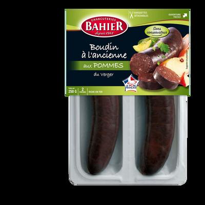 Boudin noir aux pomme BAHIER, 3 portions, 375g