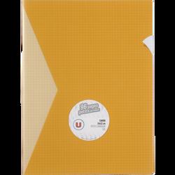 Grand cahier piqure U, petits carreaux, 24x32cm, 96 pages, jaune