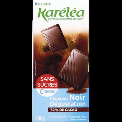 Chocolat noir avec édulcorant KARELEA 100g