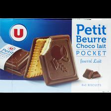 LU Biscuits Petit Beurre Choco Lait Fourré U, Boîte De 268g
