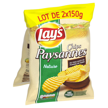 Lay's Chips Paysannes Lay's, 2x150g