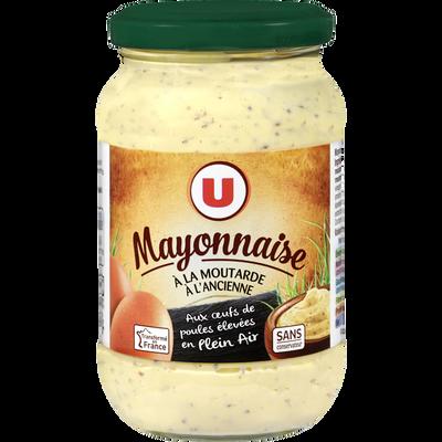 Mayonnaise à la moutarde à l'ancienne U , bocal de 235g