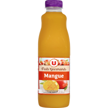 "Jus à la mangue ""fruits gourmands"" U, bouteille de 1l"