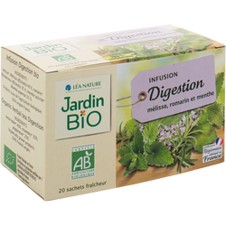 Infusions digestion mélisse, romarin et menthe JARDIN BIO, 30g