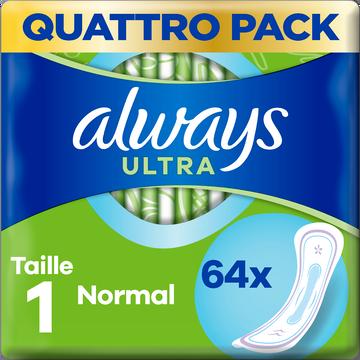Always Serviettes Hygiéniques Taille 1 Normal Ultra Always X64