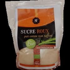Sucre de canne roux Bio FLEURANCE, paquet de 750g