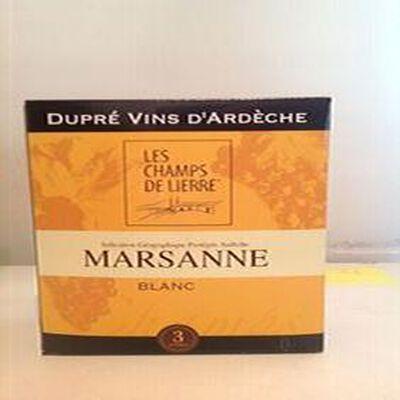 Vin Marsanne IGP Les champs de lierre Ardèche Blanc 3L Dupré
