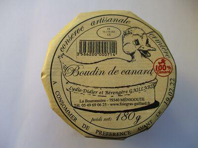 BOUDIN DE CANARD GAILLARD BOCAL 180G