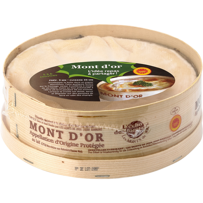 Mont d'Or convivial, AOP, au lait cru, 24% MAT.GR, L'ECHO DES FORETS,la pièce