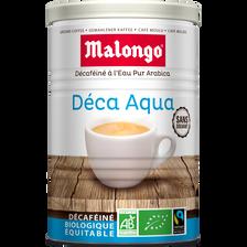Café décaféïné bio arabica Aqua MALONGO, 250g