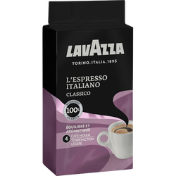 Café moulu l'espresso italiano LAVAZZA, paquet de 250g