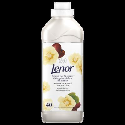 Assouplissant concentré inspired by nature beurre karité LENOR, 40 doses soit 1l