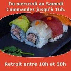 Spécialités 6 pièces,Rainbow; crabe menthe coriandre citron saumon thon avocat, SUSHI MONT BLANC