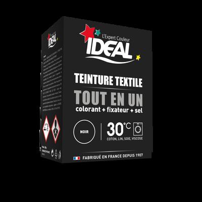 Teinture pour textile tout en un mini noir IDEAL, 230g